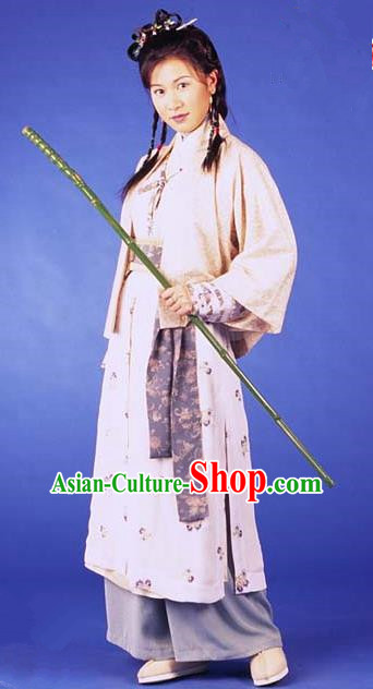 Chinese Ancient Ming Dynasty Princess Changping Swordswoman Replica Costume for Women