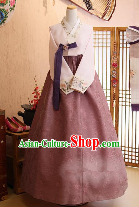 Korean Traditional Hanbok Bride Dress Ancient Formal Occasions Fashion Apparel Costumes for Women