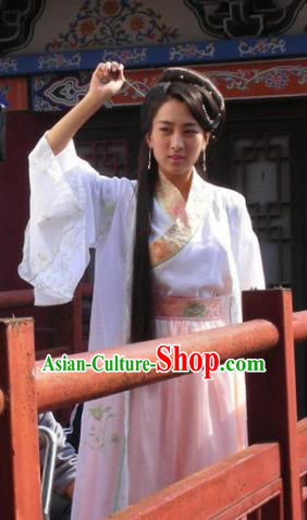 Chinese Ancient Song Dynasty Courtesan Li Shishi Replica Costume for Women