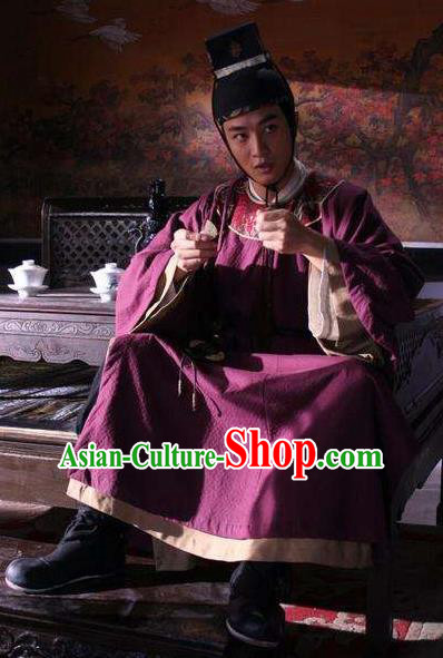 Chinese Ancient Song Dynasty Marquess Changle Replica Costume for Men