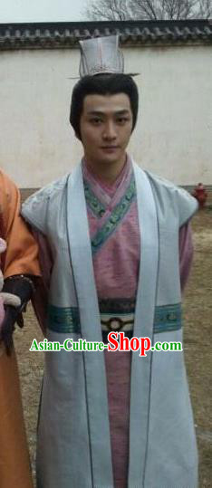 Chinese Ancient Song Dynasty Heartbreaker Scholar Chen Shimei Replica Costume for Men