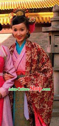Chinese Ancient Song Dynasty Imperial Consort Pang of Zhao Zhen Mullet Dress Replica Costume for Women