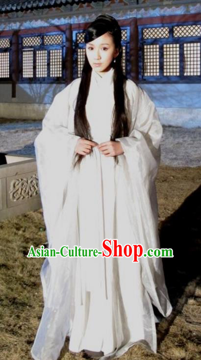 Chinese Ancient Song Dynasty Palace Lady Imperial Consort Pang of Zhao Zhen Dress Replica Costume for Women