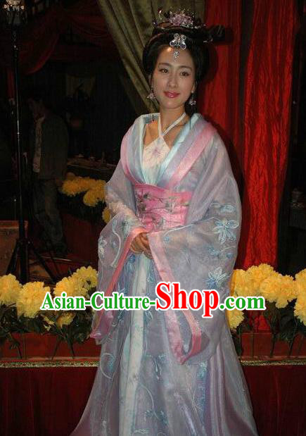 Chinese Ancient Song Dynasty Courtesan Li Shishi Embroidered Replica Costume for Women