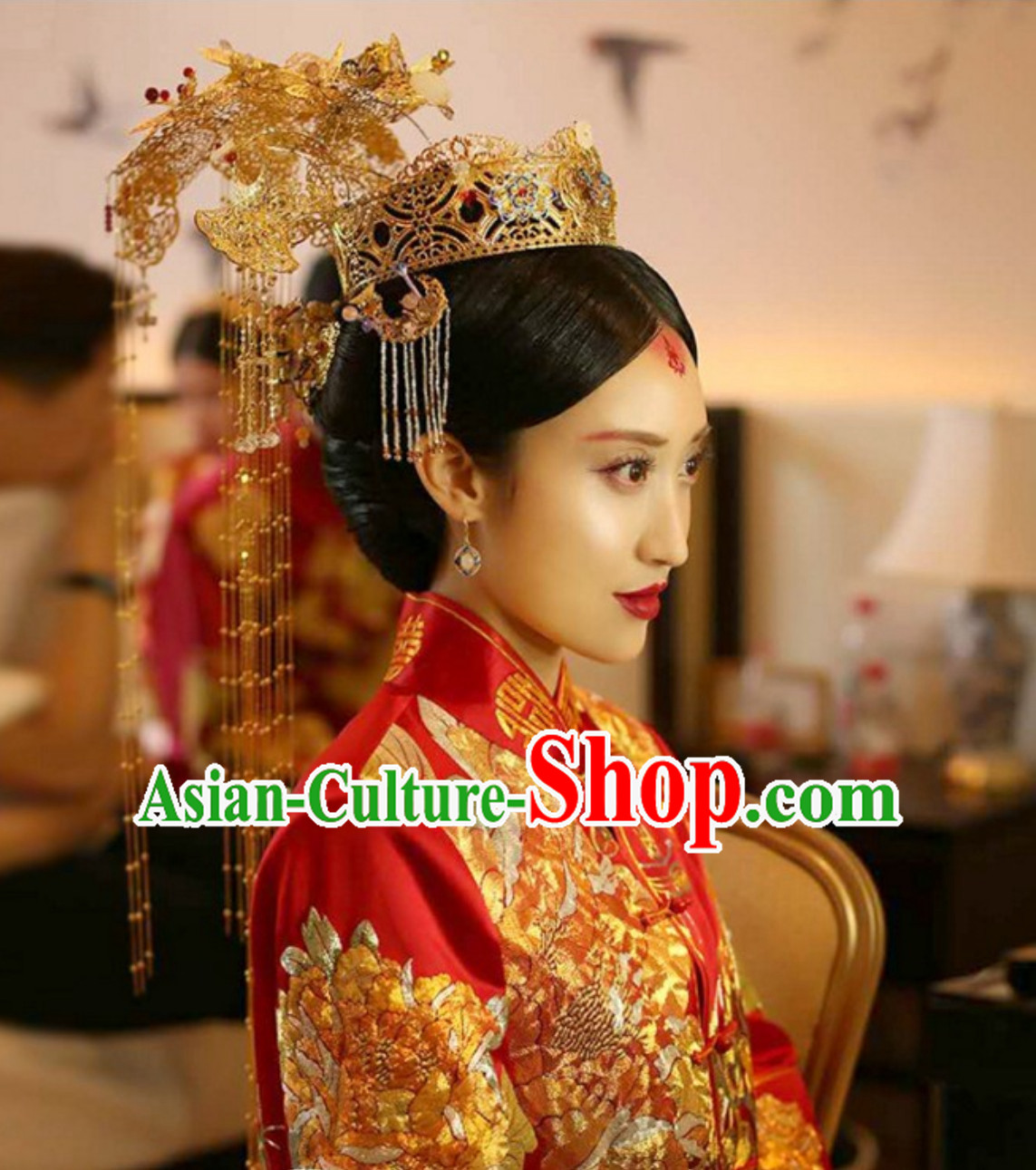 Chinese Classical Empress Wedding Bridal Hair Accessories Complete Set