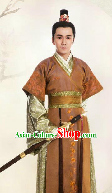 Chinese Ming Dynasty Royal Prince Clothing Ancient Nobility Childe Replica Costume for Men