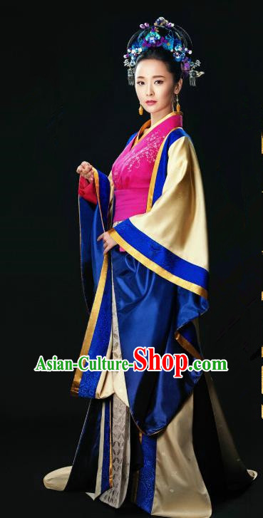 Ancient Chinese Song Dynasty Imperial Consort Hanfu Dress Palace Replica Costume for Women