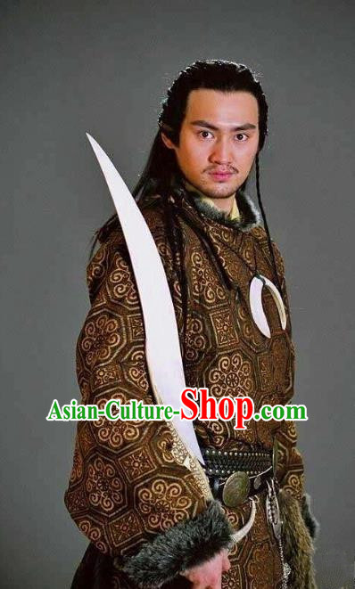 Ancient Chinese Song Dynasty Young General Yang Yanzhao Replica Costume for Men