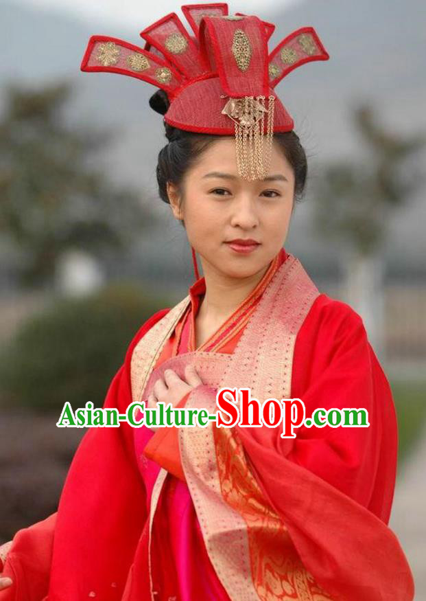 Ancient Chinese Song Dynasty Wedding Dress Swordswoman Replica Costume for Women