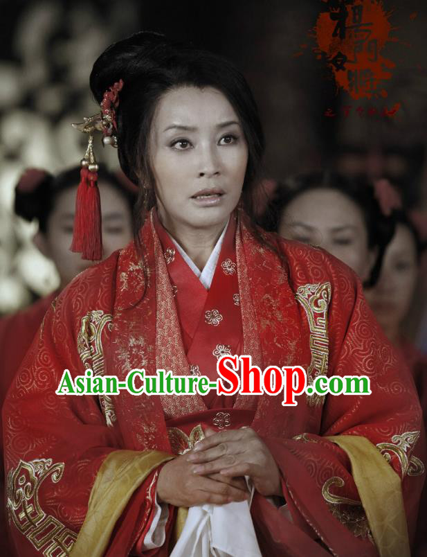 Ancient Chinese Song Dynasty Yang Family Female General Viscountess Chai Replica Costume for Women