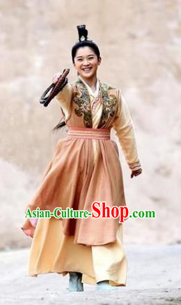 Ancient Chinese Song Dynasty Swordswoman Dress Generals Replica Costume for Women