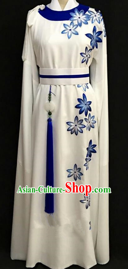 China Traditional Beijing Opera Niche White Robe Chinese Peking Opera Gifted Scholar Costume