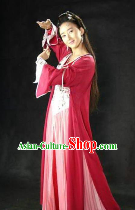 Ancient Chinese Song Dynasty Palace Lady Dance Dress Princess Replica Costume for Women