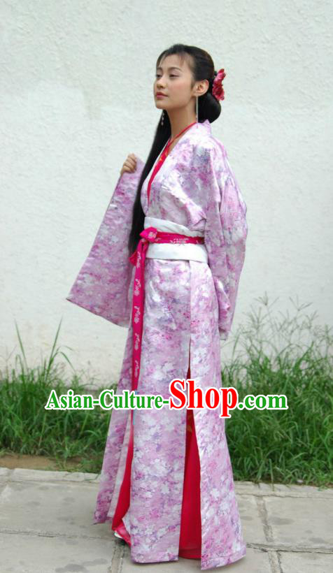 Ancient Chinese Song Dynasty Imperial Consort Dance Dress Palace Lady Hanfu Replica Costume for Women