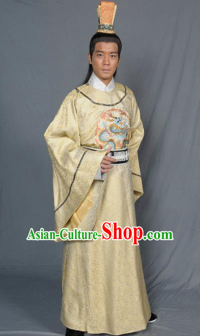 Chinese Song Dynasty Emperor Clothing Ancient Majesty Replica Costume for Men
