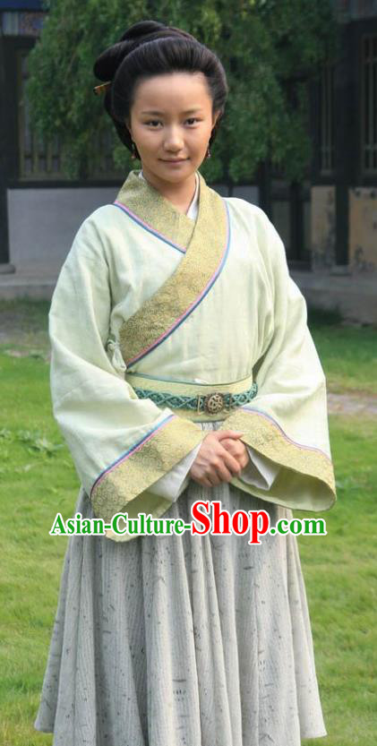 Chinese Ancient Song Dynasty Wife of Litterateur Su Shi Wang Runzhi Replica Costume for Women