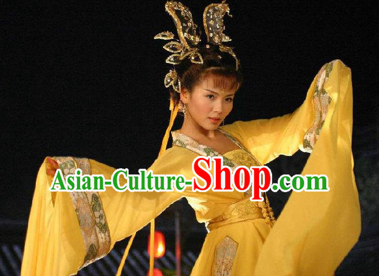Chinese Ancient Song Dynasty Lady Huarui Embroidered Replica Costume for Women