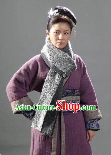 Chinese Ancient Costume Song Dynasty Novel Water Margin Character Heroine Gu Dasao Replica Costume for Women