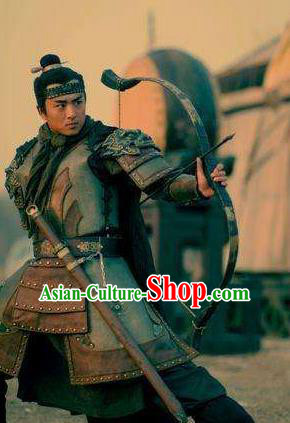Chinese Ancient Novel Water Margin Character Costume Song Dynasty Mount Liang Hero Hua Rong Replica Costume