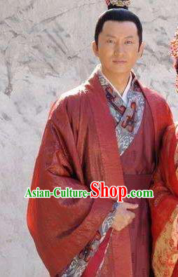 Chinese Ancient Song Dynasty Litterateur Poet Huang Tingjian Replica Costume for Men