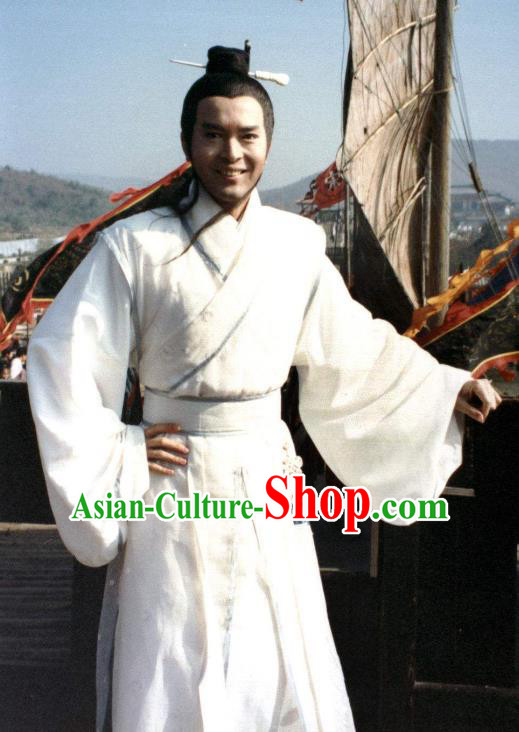 Chinese Ancient South Tang Dynasty Tragedy of the Poet King Li Yu Replica Costume for Men