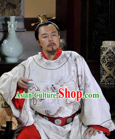 Chinese Ancient Song Dynasty Zhen Emperor Zhao Heng Replica Costume for Men