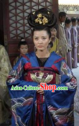 Chinese Ancient Song Dynasty Palace Lady Imperial Consort Liu Replica Costume for Women