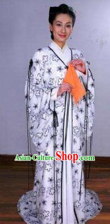 Chinese Ancient Song Dynasty Female Embroider Embroidered Replica Costume for Women