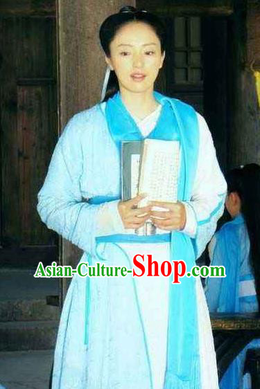 Chinese Ancient Song Dynasty Su Shi Sister Poetess Embroidered Replica Costume for Women