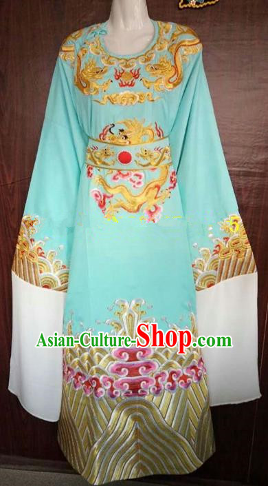 China Traditional Beijing Opera Niche Green Dragon Robe Chinese Peking Opera Number One Scholar Scholar Costume