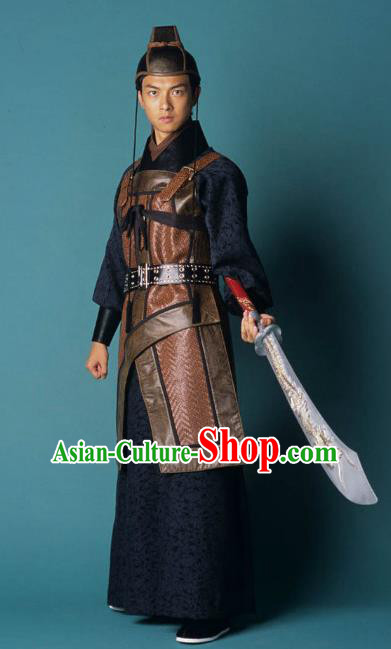 Ancient Chinese Song Dynasty Swordsman Imperial Bodyguard Replica Costume for Men