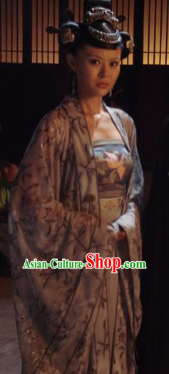 Chinese Traditional Tang Dynasty Princess Taiping Dress Palace Lady Replica Costume for Women