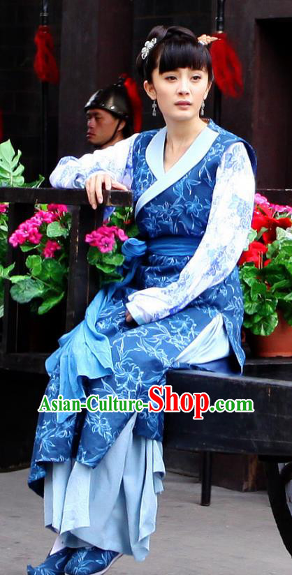 Chinese Traditional Tang Dynasty Young Lady Dress Maidservants Replica Costume for Women