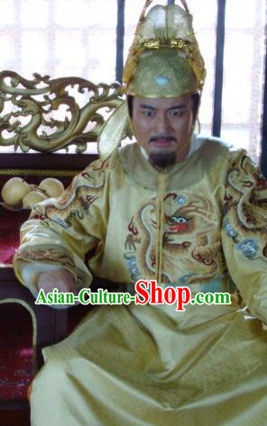 Traditional Chinese Tang Dynasty Emperor Li Zhi Hanfu Costume for Men