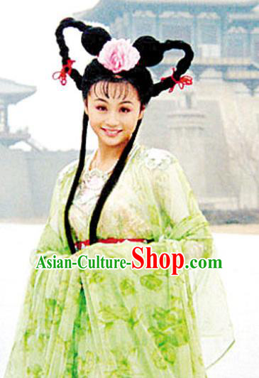 Chinese Traditional Tang Dynasty Palace Princess Wen Cheng Embroidered Dress Replica Costume for Women