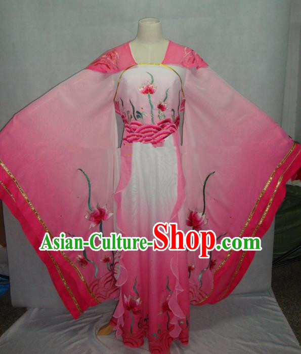 Traditional China Beijing Opera Pink Dress Chinese Peking Opera Diva Embroidered Costume