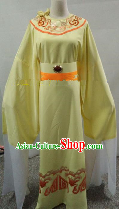 Traditional Chinese Beijing Opera Niche Costume Beijing Opera Yellow Robe for Adults
