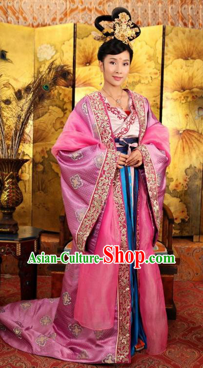 Chinese Ancient Tang Dynasty Princess Tai Ping Palace Replica Costume for Women