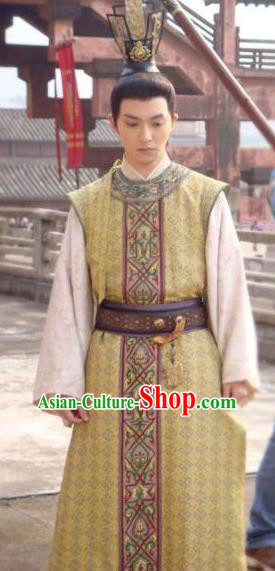Traditional Chinese Tang Dynasty Emperor Ruizong Li Dan Replica Costume for Men