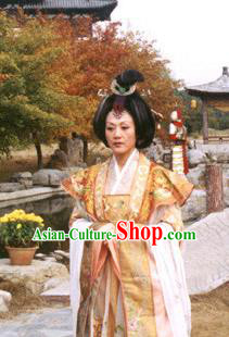 Chinese Ancient Tang Dynasty Queen Wu Zetian Embroidered Dress Empress Replica Costume for Women
