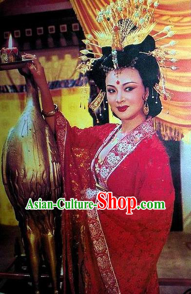 Chinese Ancient Tang Dynasty Lady Yang Dress Imperial Concubine Replica Costume for Women