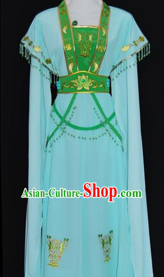 Traditional China Beijing Opera Actress Green Dress Chinese Peking Opera Diva Costume