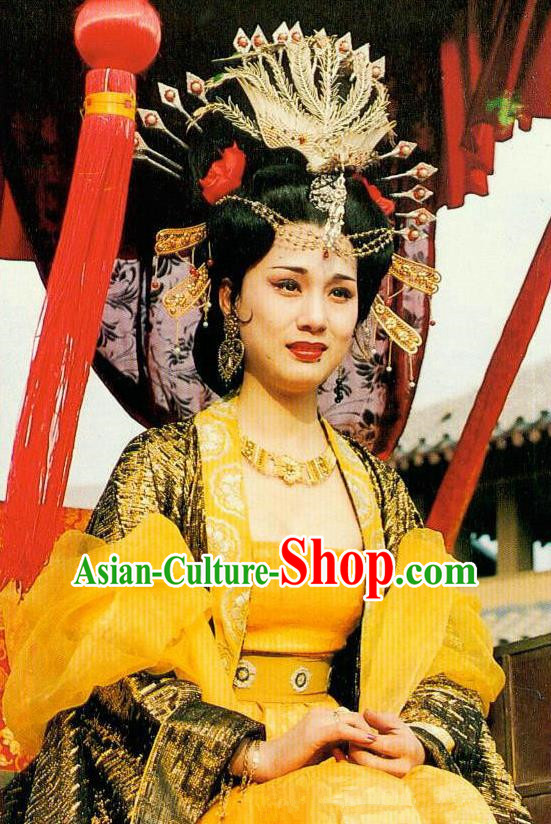 Chinese Tang Dynasty Imperial Consort Yang Embroidered Hanfu Dress Ancient Replica Costume for Women