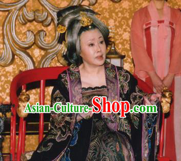 Chinese Tang Dynasty Queen Wu Zetian Embroidered Hanfu Dress Ancient Empress Replica Costume for Women