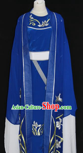 Traditional Chinese Beijing Opera Royalblue Costume Peking Opera Niche Clothing for Adults