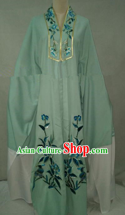 Traditional Chinese Beijing Opera Niche Green Cape Peking Opera Young Men Costume for Adults