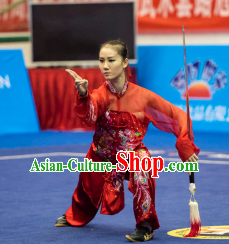 Top Female Taiji Quan Uniforms Kung Fu Suit Kung Fu Uniform Chinese Jacket Taiji Clothes Dress Dresses Kung Fu Clothing Embroidered Tai Chi Suits Custom Kung Fu Embroidery Uniforms