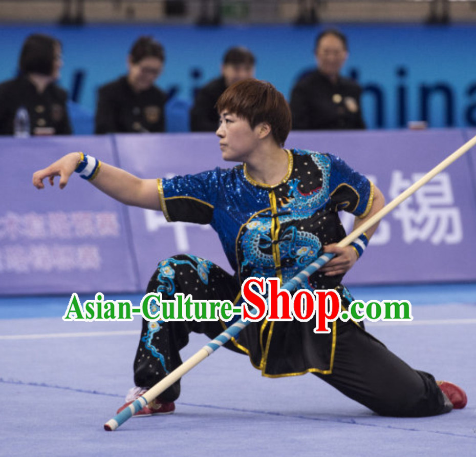Supreme Custom Made Nanquan Competition Uniforms Kung Fu Suit Kung Fu Uniform Chinese Jacket Taiji Clothes Dress Dresses Kung Fu Clothing Embroidered Tai Chi Suits Custom Kung Fu Embroidery Uniforms