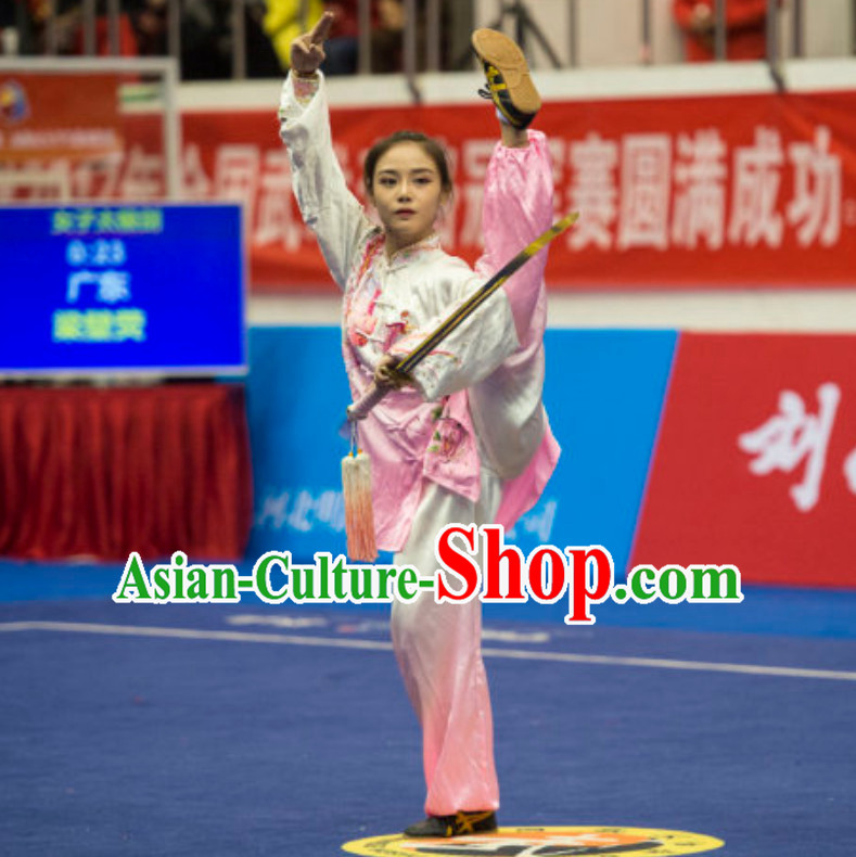 Top Tailor Made Kung Fu Suit Kung Fu Uniform Chinese Jacket Taiji Clothes Dress Dresses Kung Fu Clothing Embroidered Tai Chi Suits Custom Kung Fu Embroidery Uniforms