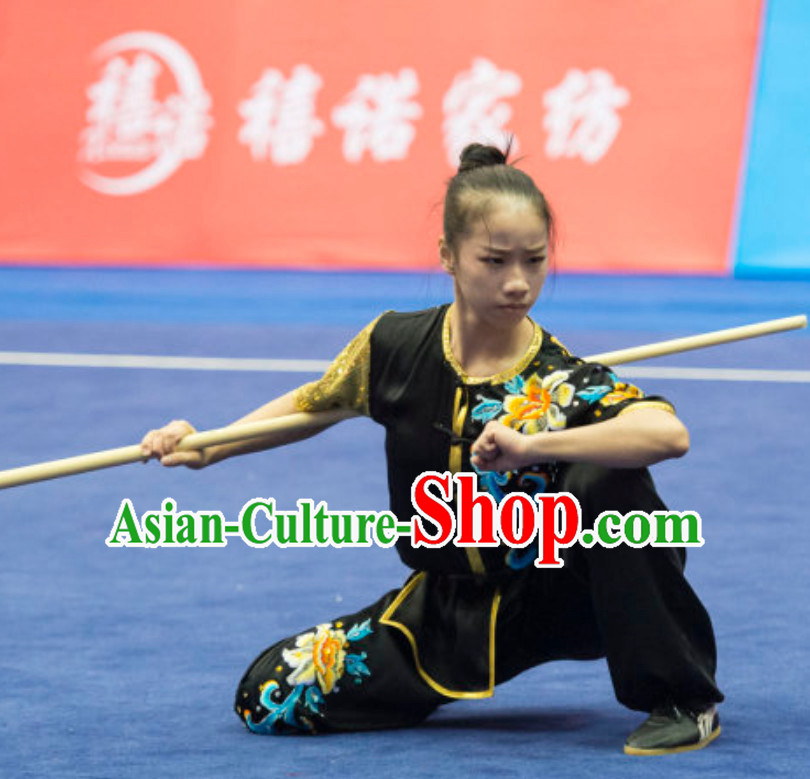 Top Tailor Made Kung Fu Suit Kung Fu Uniform Chinese Taiji Clothes Dress Dresses Kung Fu Clothing Embroidered Tai Chi Suits Custom Kung Fu Embroidery Uniforms